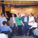 João Guilherme Ripper, Julio Herrlein, Leonardo Bruno e Carlos Malta - entrega do Prêmio IBEU, RJ, 2006